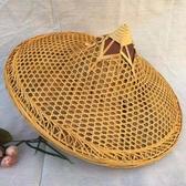 斗笠 竹編斗笠帽竹帽舞蹈表演道具竹制品防曬防雨釣魚帽竹燈罩裝飾草帽道具