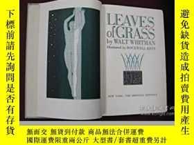 二手書博民逛書店Leaves罕見of Grass 惠特曼詩集 《草葉集》Y283