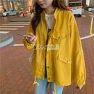 外套流行女韓版寬鬆秋季女裝新款工裝女休閒短款夾克學生