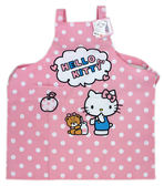 【卡漫城】 Hello Kitty 雙層 圍裙 粉色白點 ㊣版 台灣製 烘焙課 甜點 家事 工作服 烹飪課 凱蒂貓