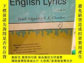 二手書博民逛書店Early罕見English Lyrics, Amorous,