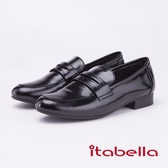 itabella.復古經典漆皮樂福鞋(9208-90黑色)