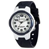 JAGA 捷卡 指針錶 白面 藍色橡膠 38mm 學生錶/大錶/國中/國小/都適合 清楚時間判讀 AQ68A-E