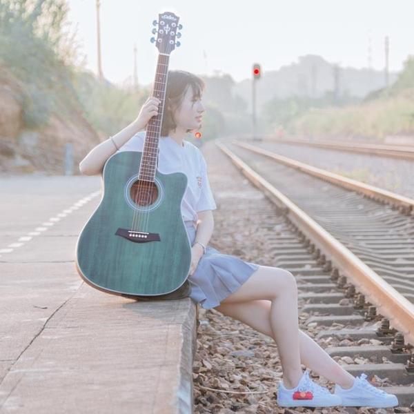 單板吉他初學者男民謠41寸新手入門學生用自學女生款 【傑克型男館】