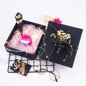 表白禮物 情人節禮品盒精美正方形香水口紅禮盒高檔創意小大號發光包裝盒【七夕節禮物】