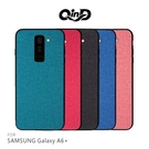 QinD SAMSUNG Galaxy A6+ 布藝保護套 防摔 防滑 防刮 鏡頭保護 軟邊 保護殼