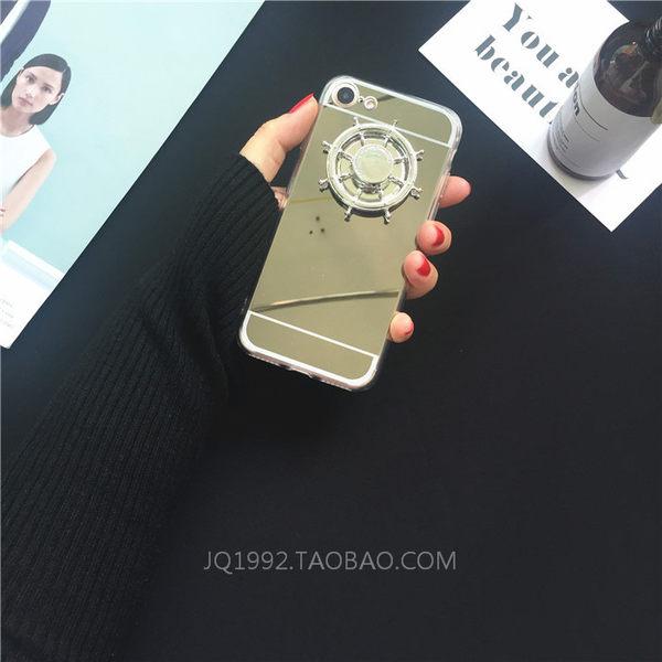 【萌萌噠】三星 Galaxy A8/A7/A5/A3系列  創意鏡面船陀保護殼 舒壓解壓 轉動趣味 全包矽膠軟殼 外殼