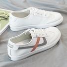 小白鞋女2021爆款春夏新款百搭平底学生韩版皮面网红休闲薄底板鞋