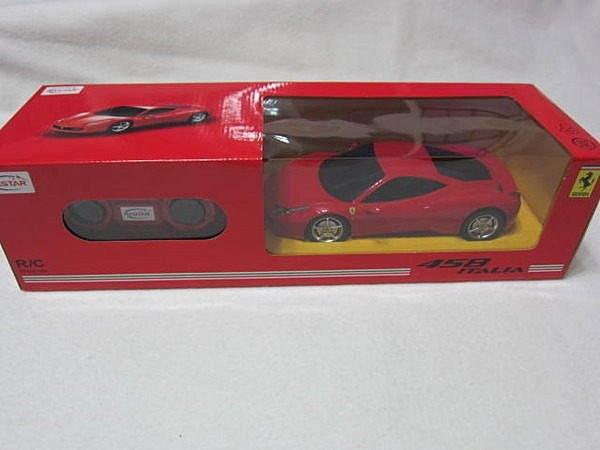 【KENTIM 玩具城】1:24(1/24)全新原裝法拉利FERRARI 458 ITALIA紅色原廠授權RASTAR遙控車
