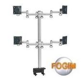 [富廉網] FOGIM TKLA-6034-SM 夾桌懸臂式液晶螢幕支架(四螢幕)(和順電通)