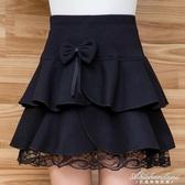 秋冬季新款半身裙高腰毛呢短裙呢子A字蓬蓬半身傘裙蛋糕裙女短裙 黛尼時尚精品