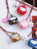 年終慶85折 可愛出口日本開運招財櫻花貓咪水鈴鐺包包手機掛件掛飾手機鏈diy 百搭潮品