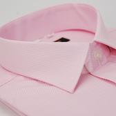 【金‧安德森】粉色斜紋窄版長袖襯衫