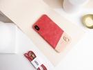 Alto iPhone Xs Max 真皮手機殼背蓋 6.5吋 Anello - 珊瑚紅 皮革保護套