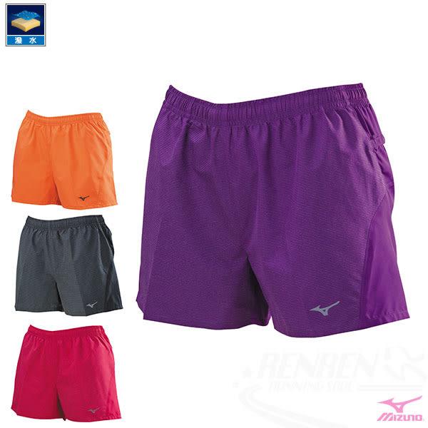 MIZUNO 美津濃 女路跑褲(紫) 兩側口袋 運動短褲