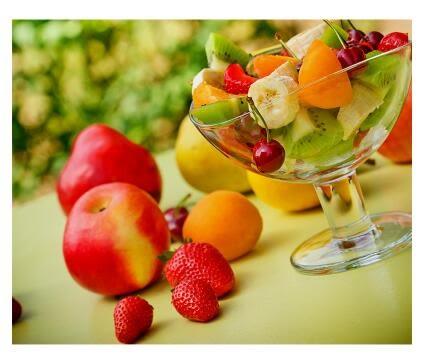 現代簡約餐廳裝飾畫飯廳壁畫單幅廚房背景牆清新水果酒杯無框掛畫