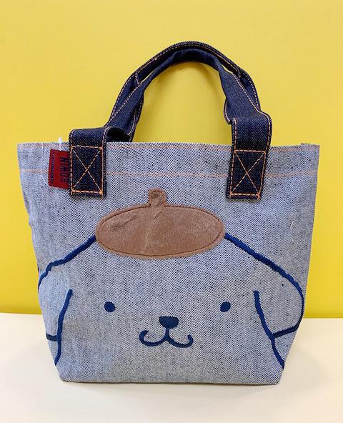 【震撼精品百貨】Pom Pom Purin 布丁狗~Sanrio 布丁狗收納包/手提包-藍牛仔#09309