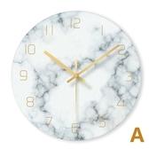 掛鐘 玻璃北歐掛鐘現代簡約家用時鐘大理石英鐘錶客廳大氣個性創意時尚T