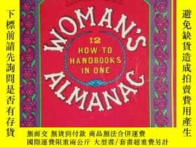 二手書博民逛書店英文原版罕見WOMAN S ALMANAC 12 HOW-TO
