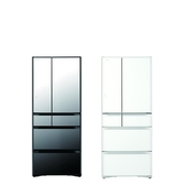 日立 621公升六門六們變頻(與RG620HJ同款)冰箱X琉璃鏡RG620HJX