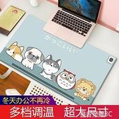 加熱滑鼠墊 發熱滑鼠墊超大加熱暖桌墊辦公室電腦發熱墊學生寫字電熱桌面取暖YTL 現貨