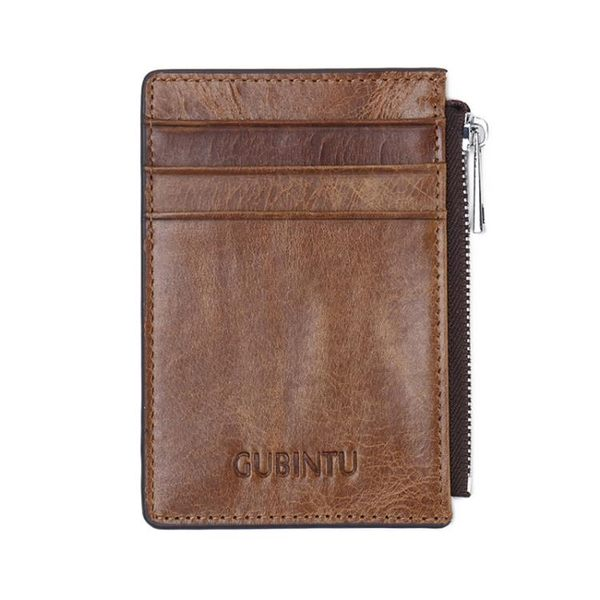 真皮錢包短夾 防磁銀行卡套拉鏈公交證件卡套《印象精品》e226