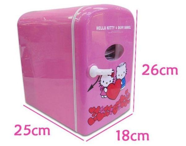 Hello Kitty 4L迷你冰箱 冷藏保鮮移動冰箱家車兩用【藍星居家】