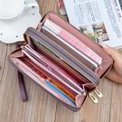女士錢包女長款多功能皮夾子2021新款時尚雙拉鏈卡包手拿包錢夾潮 夏日新品