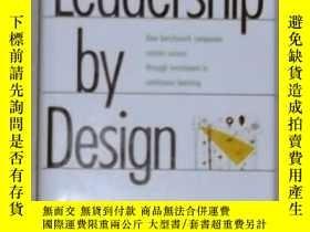 二手書博民逛書店英文原版罕見Leadership by Design by Al