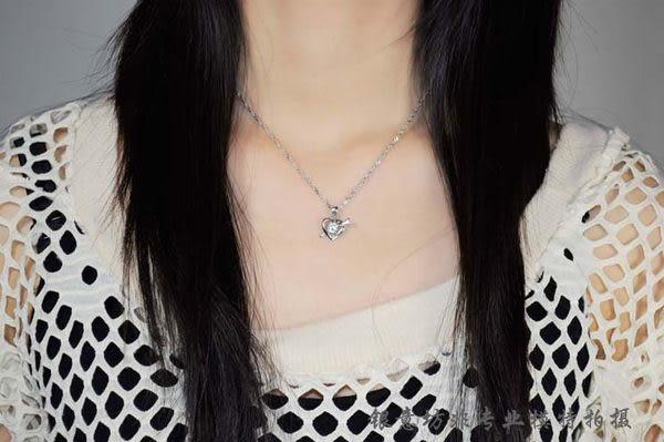 純銀項鏈 一箭傾心項鏈 銀飾品 首飾 女