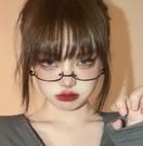 眼鏡框 日系二次元可愛軟萌美少女眼鏡框裝飾鏡cos下半框萌兇動漫眼鏡女 寶貝寶貝計畫 上新