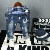 ✡老闆定錯價✡  韓版男童女童兒童寶寶破洞油漆牛仔褲子2095