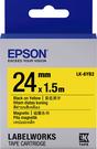 LK-6YB2 EPSON 磁鐵系列黃底黑字標籤帶(寬度24mm) C53S656411