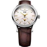 【僾瑪精品】Maurice Lacroix 紳士系列 GMT大日期視窗時尚機械腕錶-白/40mm/LC6088-SS001-130