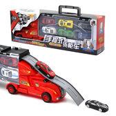 桌遊兒童模型貨櫃車仿真小汽車玩具車12只合金車男孩玩具