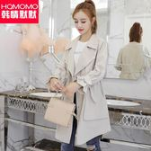 2018春秋季新款韓版休閒修身lulu風衣女中長款薄款百搭外套矮個子洛麗的雜貨鋪