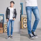 超彈力布牌設計湛藍牛仔褲...