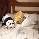 三只小熊毛絨玩具抱枕公仔長條玩偶可愛超軟...