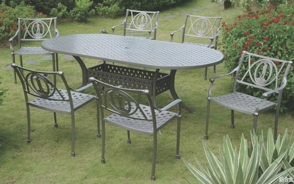 【南洋風休閒傢俱】戶外休閒桌椅系列-高爾夫扶手橢圓桌椅組 戶外休閒餐桌椅  (#383 #20304)