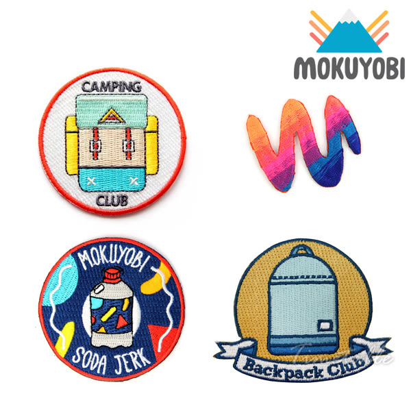 MOKUYOBI / Iron On Patches / L.A 空運特色創意熨燙補丁徽章 - CAMPING CLUB x HOT CUT x SODA JERK x BACKPACK CLUB