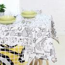 可愛時尚清新卡通加厚全棉桌布餐桌布 茶几布 (客製尺寸1)