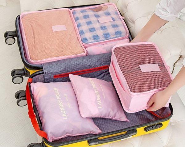 收納袋【CTP022】韓系防水旅行收納袋6件組 萬用防水 住宿 內衣收納袋  旅行 出差 123ok
