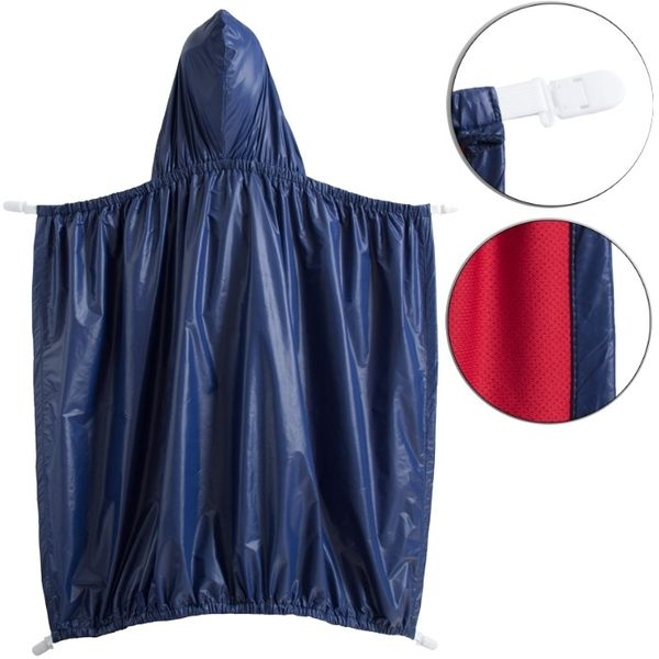 ★實用《雙層萬用款》防風披風 外層防水 內裡吸汗 哺乳巾 寶寶斗篷