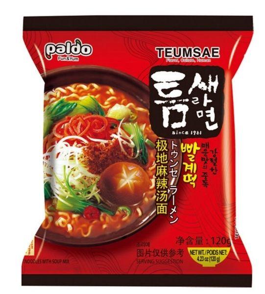 【麻吉熊】韓國Paldo八道 極地麻辣湯麵120g(單包)