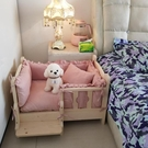 狗窩泰迪寵物窩金毛狗床貓窩床大小型犬狗狗窩床實木狗床寵物用品 小山好物
