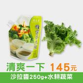 清爽一下│蜂蜜芥末醬(250g)+水耕蔬菜1款(隨機) 只要145元!
