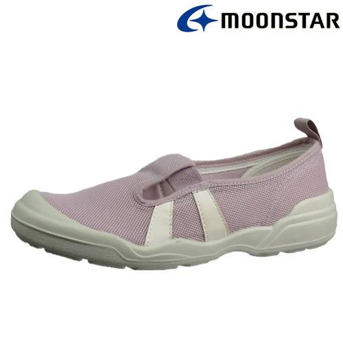 日本製造【MOONSTAR】銀離子抗菌防臭2E寬楦超舒適室內工作鞋 -  薰衣草(女版)