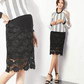 【愛天使孕婦裝】韓版(82335)孕婦裙 韓版蕾絲窄裙 上班族窄裙(L/XL/XXL)可調腰圍
