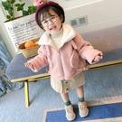 免運冬季新款潮童裝女童機車毛毛衣加絨外套小童卡通上衣