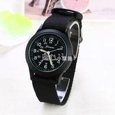 男手錶潮流時尚帆布帶手錶男女手錶運動男錶夜光石英錶走心小賣場